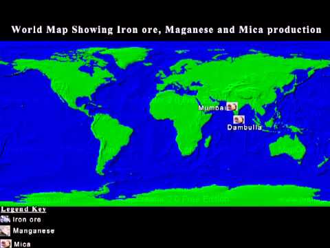 Mineral Map Of The World.World Map Of Mineral Resources 70006829 Youtube