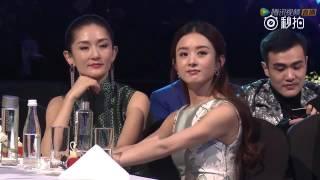 Lý Dịch Phong & Triệu Lệ Dĩnh dưới khán đài Star Awards 10/12/2016