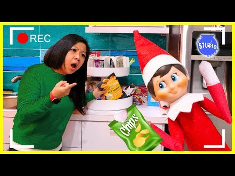 ELF ON THE SHELF CAUGHT ON CAMERA ON THE STUDIO SPACE!