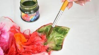 Selyemfestés kezdőknek / Silk painting for beginners