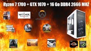 Ryzen 7 1700 + GTX 1070 - Test sur 9 jeux en Ultra 1080p
