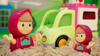Игрушки Маша и Медведь и Свинка Пеппа у видео для детей - Маша бизнесмен! Мультфильмы для детей