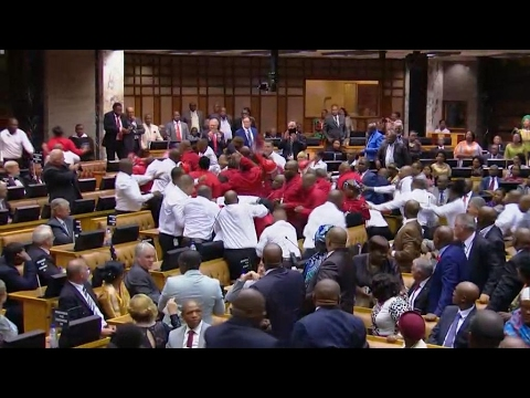 Fistfight erupts during Zuma's State of the Nation speech