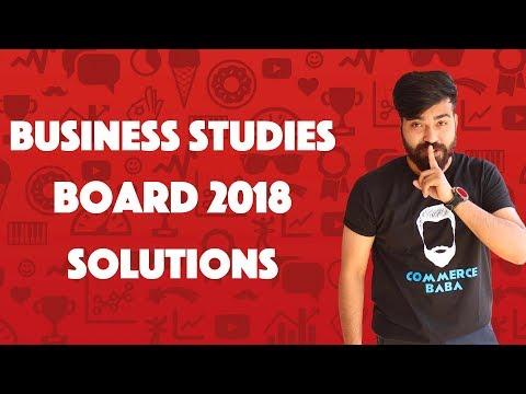 Full Business Studies board paper 2k18 Solutions #teamcommerceebaba