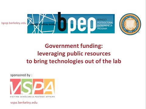 Government funding: leveraging public resources to bring technologies out of the lab
