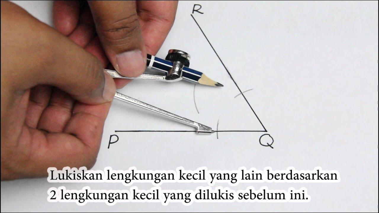 Membina Sudut 60 120 Dan Pembahagi Dua Sama Sudut Pembinaan Geometri