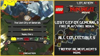 Lego Ninjago Movie Videogame: The Lost City of Generals FREE PLAY/FREE ROAM (All Collectibles) - HTG