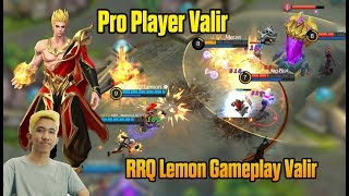 Video Try New Hero Valir RRQ`Lemon ✿ almost maniac Mobile Legends Gameplay Valir Pro Player download MP3, 3GP, MP4, WEBM, AVI, FLV Juli 2018