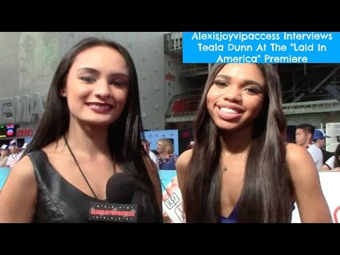 Teala Dunn Interview With Alexisjoyvipaccess At The Laid In America Premiere