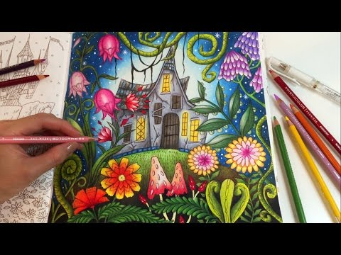 THE MAGIC LAND   Romantic Country The Second Tale Coloring Book   Coloring With Colored Pencils