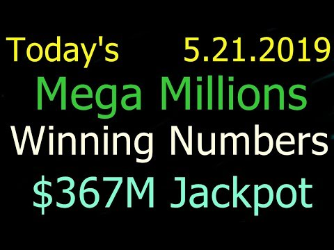 Today Mega Millions Winning Numbers 21 May 2019 Tuesday. Tonight Mega Millions Drawing 5/21/2019