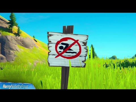 Swim At Different No Swimming Signs All Locations Guide - Fortnite Challenge