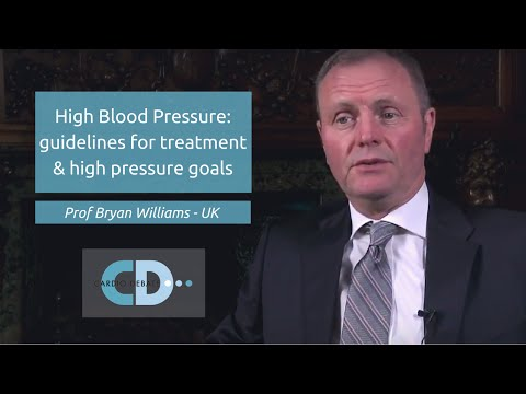 High blood pressure: Guidelines for treatment & high pressure goals - Prof Bryan Williams
