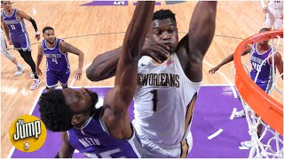 Reacting to Zion Williamson's ruthless dunk over Kings' Chimezie Metu | The Jump