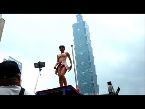 Taiwan festival celebrates 'tradition' with pole dancers