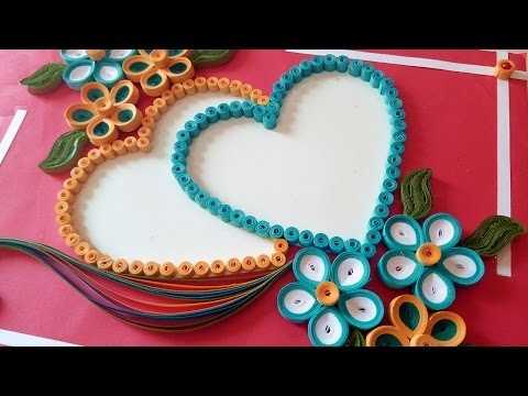 ☑️Paper Quilling ⏭How To Make a Beautiful heart shaped ...