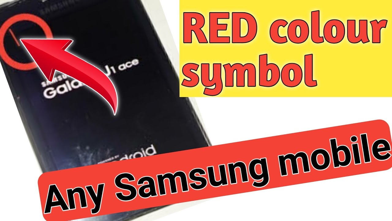 Samsung J110,J100h (j1) red symbol in screen (Exclamation mark) Remove  100℅solution!