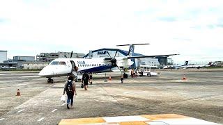 ANA NH 505 (DHC8‐Q400) 機窓 進行左側 伊丹空港~宮崎空港