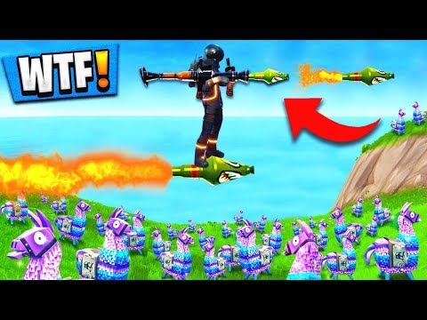 Using GUIDED MISSILES to WIN Fortnite: Battle Royale (Self Rocket Riding)