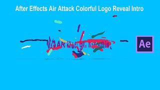 Air Attack Colorful Logo Reveal Intro After Effects 2020