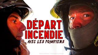 Départ incendie : Une Intervention Au Fourgon Avec les Pompiers !