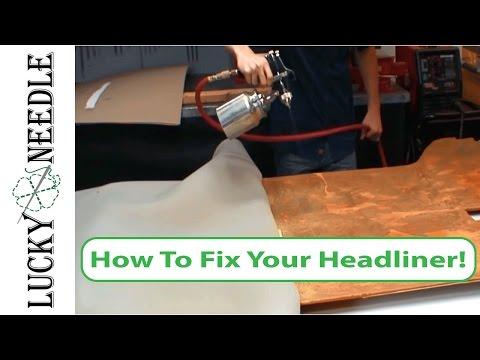 How to Recover Your Headliner -  Fix a Sagging Headliner - Car Headliner Repair