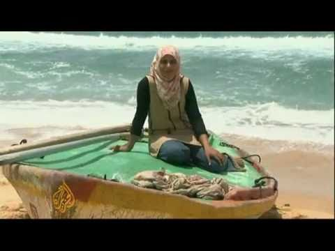 Gaza the only woman fisher in the world