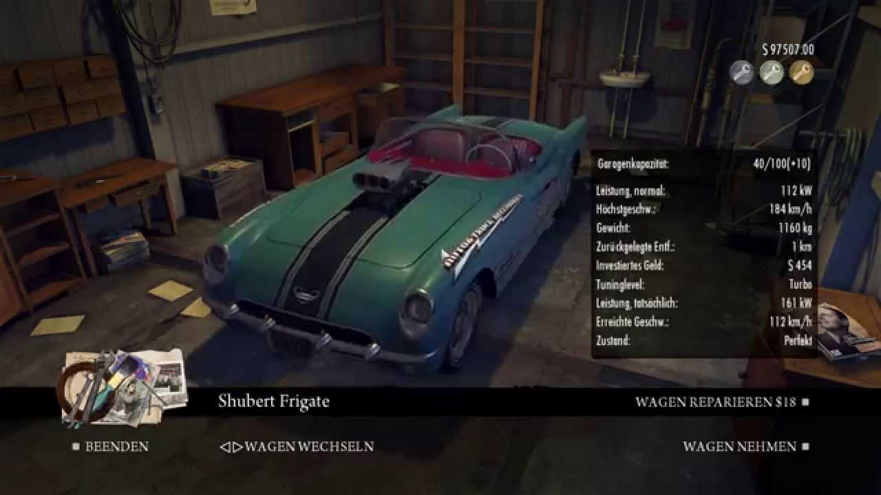 Mafia II - garage full of all cars - YouTube