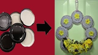 Turn Jar Lids into Door Decorations | Diy