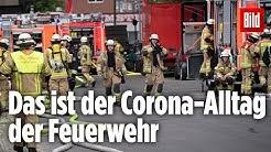 Pflasterstein-Angriff, Maske und Sicherheitsabstand: 12 Stunden mit der Berliner Feuerwehr