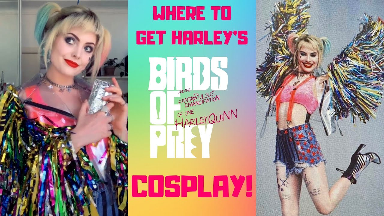 Where To Get Harley S Birds Of Prey Cosplay Jacket Wig Jewellery And More Youtube