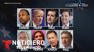 Precandidatos republicanos debaten sobre economía | Noticiero | Noticias Telemundo