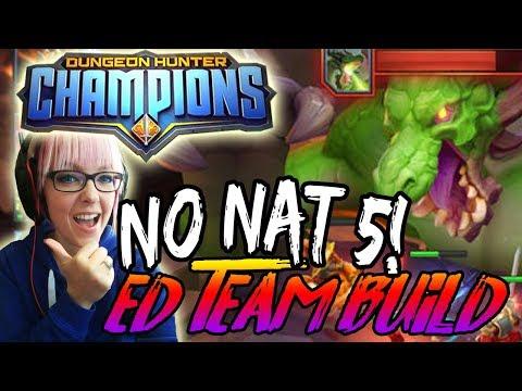 NO NAT 5 ELDER DRAKE TEAM  | Dungeon Hunter Champions
