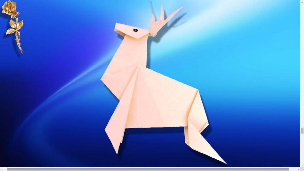 origami facile renne