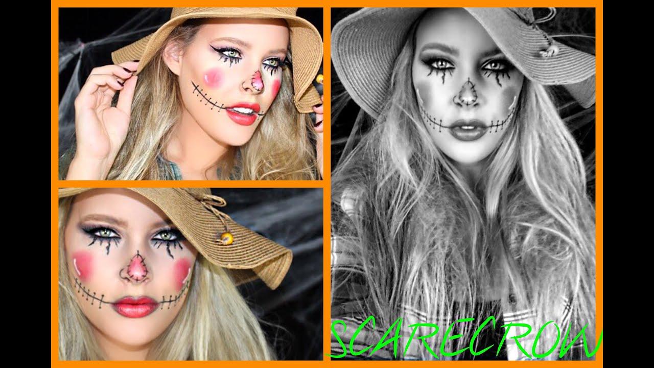 SCARECROW MAKEUP   Halloween   Brittany Elizabeth - YouTube