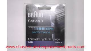Identifying the correct parts for your Braun Series 3 shaver