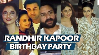 Randhir Kapoor's 70th GRAND Birthday Bash | Full HD Video | Kareena, Saif, Ranbir, Amitabh
