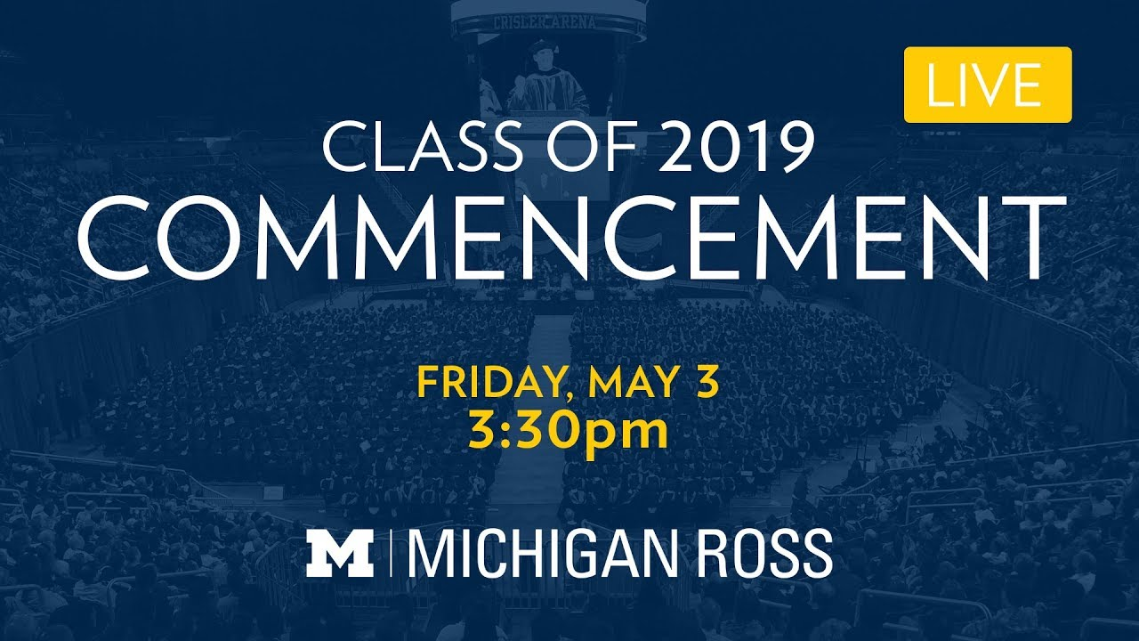 Commencement | Michigan Ross