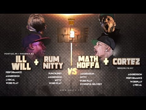 CORTEZ + MATH HOFFA VS RUM NITTY + ILL WILL SMACK/ URL RAP BATTLE