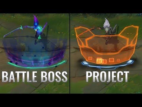 Battle Boss Yasuo Vs Project Yasuo Skin Comparison (League Of Legends)