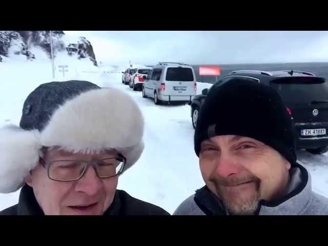 Nordkapp Vintertur 2015 - Video 24 - Russenes til Nordkapp?