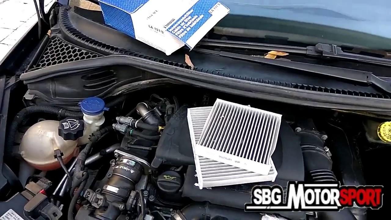 Cambiar filtro de polen peugeot 207 sbg motorsport for Filtro cabina camaro 2016