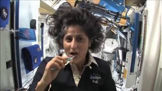 How Astronauts Brush Their Teeth Astronaut Nasa Iss Eshu Estation