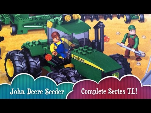 TL Complete Series Building John Deere Mega Bloks Crew Seeder Building Toy With Tractor Seeder Silo