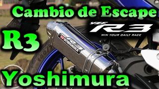 Yamaha R3 Cambio de escape  Yoshimura