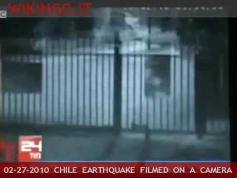 Chile earthquake quake hits cile caught on camera live for Camera diretta