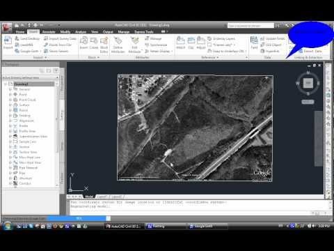 Importing a Google Earth Image into Civil3D | FunnyDog.TV