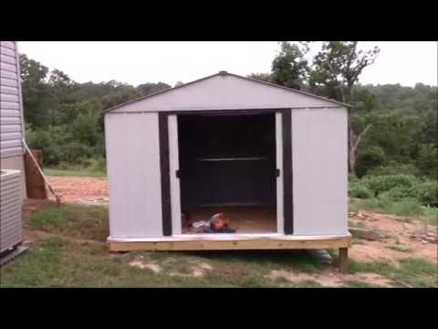 How To: Build a Shed on Posts Part 5. Bonus Details #simplelife #DIY
