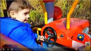 Kids Ride on Cars Having Fun-Nursery Rhyme Song