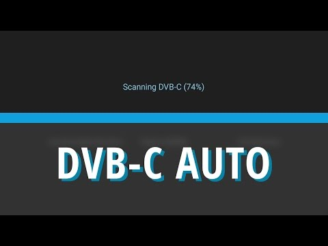 Scan DVB-C channel in automatic mode - WeOS 1.0 [WeTek Tutorials]